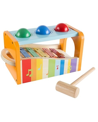 Hey! Play! 80-HJD931204 Wooden Musical Toy