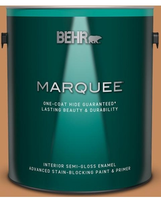 BEHR MARQUEE 1 gal. #PPU3-13 Glazed Ginger Semi-Gloss Enamel Interior Paint and Primer in One