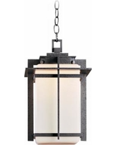 "Hubbardton Forge Tourou 16 3/4"" High Outdoor Hanging Light"