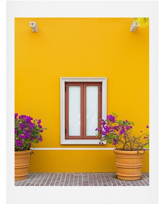 Deny Designs El Pueblito Art Print, Size 40x60 - Yellow