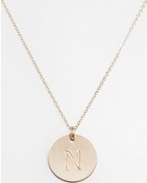 Women's Nashelle 14K-Gold Fill Initial Disc Necklace