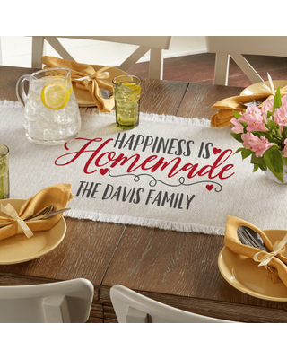 Personalized Happiness is Homemade Table Runner