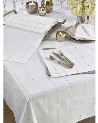 Cotton Napkins With Embroidered Design (Set of 4) (Set of 4)