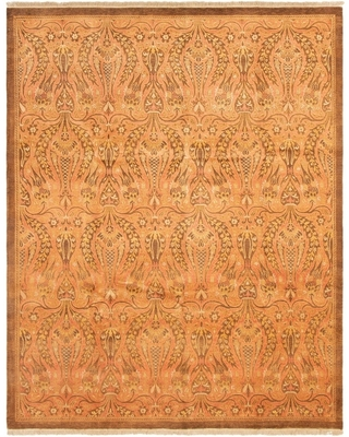 Hand-knotted Pako Persian 18/20 Copper Wool Rug - 8'0 x 9'10