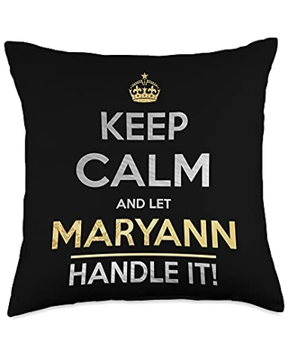 Name Gifts By Qnz Keep Calm And Let Maryann Handle It Throw Pillow, 18x18, Multicolor