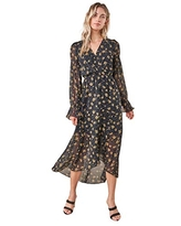 Sugarlips Women's Loving You Floral High Low Maxi Dress, Black-Multi, Small