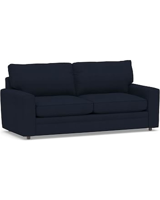 Pearce Square Arm Upholstered Sleeper Sofa, Polyester Wrapped Cushions, Twill Cadet Navy