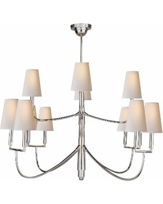 Visual Comfort and Co. Thomas O'Brien Farlane 48 Inch 12 Light Chandelier - TOB 5017PS-NP