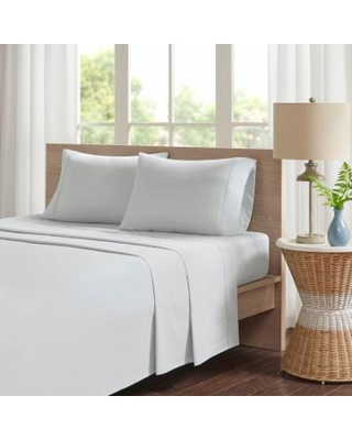 Madison Park Peached Percale Cotton Sheet Set, Grey King