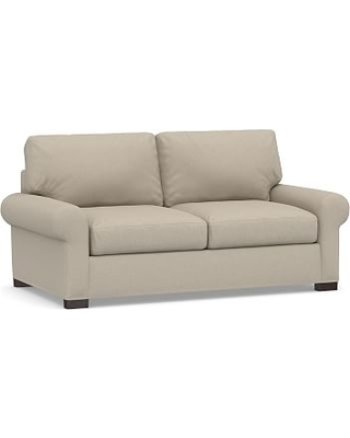 Turner Square Arm Upholstered Deluxe Sleeper Sofa, Polyester Wrapped Cushions, Brushed Crossweave Natural