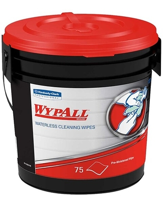 WypAll Fabric Wipers, White, 75 Wipers/Bucket, 6 Buckets/Carton (91371) | Quill