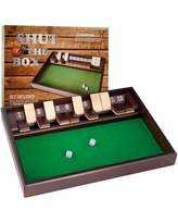 Shut The Box Game - 12 Numbers - Includes Dice