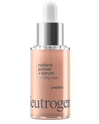 Neutrogena Healthy Skin Radiant Booster Primer & Serum, Skin-Evening Serum-to-Primer with Peptides & Pearl Pigments, Evens the Look of Skin's Tone & Smooths Texture, 1.0 fl. oz