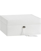 McKenna Leather Medium Jewelry Box, White