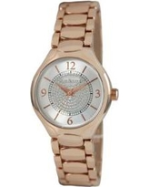 Kim Rogers Pink Women's Rose Bracelet With Glitz Circle On Dial Watch