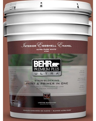 BEHR ULTRA 5 gal. #200F-6 Sequoia Grove Eggshell Enamel Interior Paint and Primer in One