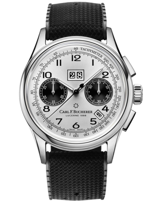 Carl F. Bucherer Heritage Chronograph Automatic Silver Dial Unisex Watch 00.10803.08.12.01