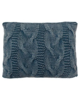 French Connection® Hailey Textured Oblong Throw Pillow in Navy