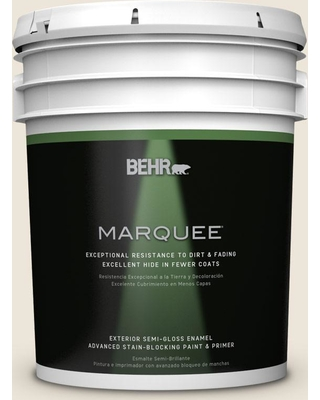 BEHR MARQUEE 5 gal. #ECC-36-2 Nesting Dove Semi-Gloss Enamel Exterior Paint and Primer in One