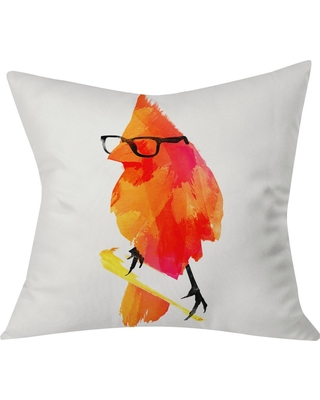 "Orange Robert Farkas Punk Bird Throw Pillow (20""x20"") - Deny Designs, Multi-Colored"