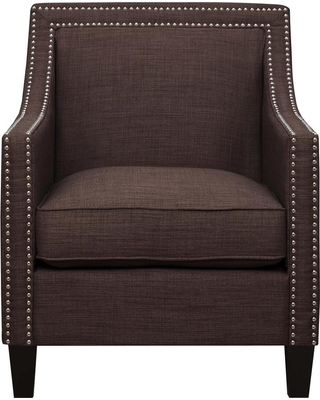 Element International Emery Chocolate (Brown) Arm Chair
