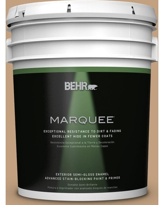 BEHR MARQUEE 5 gal. #S280-4 Real Cork Semi-Gloss Enamel Exterior Paint and Primer in One