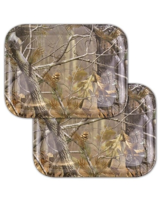 """DII, Real Tree Serving Tray, Melamine, Set of 2, 13x10"""", Green Camo"""