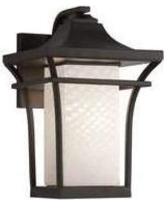 Justice Design Group Fusion 12 Inch Wall Sconce - FSN-7521W-WEVE-DBRZ-LED1-700