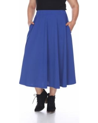dd519eb467a Sweet Winter Deals on Plus Size White Mark Pleated Midi Skirt ...