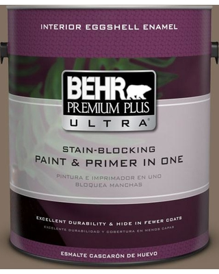 BEHR Premium Plus Ultra 1 gal. #PPU5-04 Mocha Latte Eggshell Enamel Interior Paint and Primer in One