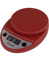 Primo Digital Kitchen Scale 11Lb/5Kg, Warm Red
