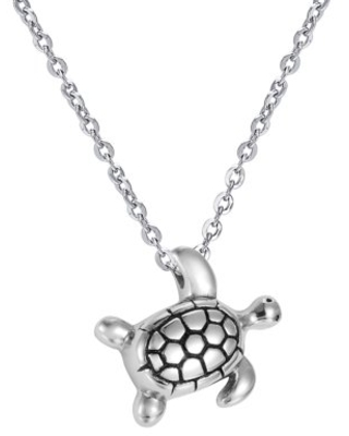 Anavia Sea Turtle Stainless Steel Cremation Jewelry Ashes Holder Container Memorial Necklace Ash Urn Keepsake with FREE Funnel Kit and Velvet Jewelry Box