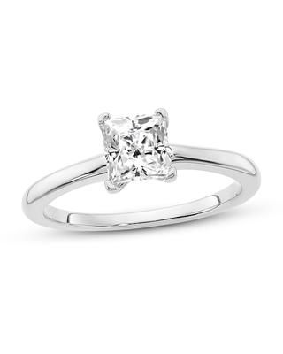Jared Diamond Solitaire Engagement Ring 3/4 ct tw Princess-cut 14K White Gold
