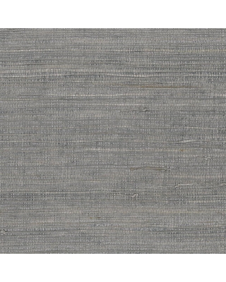 Patton Wallcoverings Extra Fine Raw Jute with Pearl Wallpaper, Grey/ Pearl