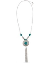 Erica Lyons Gray Silver- Toned Go West Long Tassel Necklace