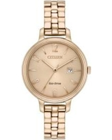 Citizen Gold Ladies Citizen Eco-Drive Silhouette Stainless Steel Watch