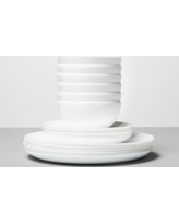 Glass 18pc Dinnerware Set White - Made By Design