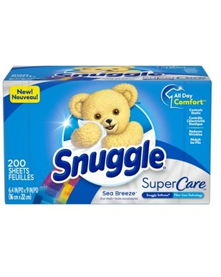 Snuggle SuperCare Fabric Softener Dryer Sheets, Sea Breeze, 200 Count