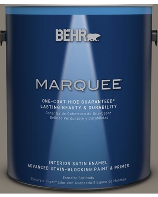 BEHR MARQUEE 1 gal. #MQ2-53 Smoky Trout One-Coat Hide Satin Enamel Interior Paint and Primer in One