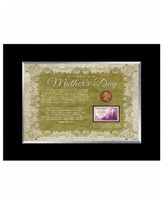 American Coin Treasures Mother's Day Celebration Frame with Stamp and Coin - Multi