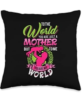 Funny Sayings And Mother's Day Designs World-Saying Mom-Mother's Day Throw Pillow, 16x16, Multicolor