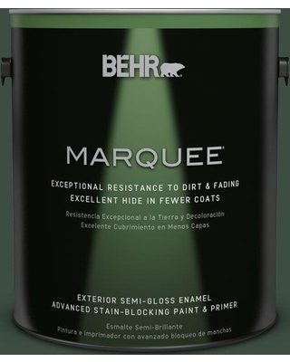 BEHR MARQUEE 1 gal. #ecc-45-3 Conifer Semi-Gloss Enamel Exterior Paint and Primer in One