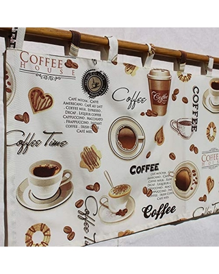 Spectacular Savings On Coffee Curtains For Kitchen Coffee Theme Decorations Coffee Beans Cappuccino Mocha Valance I Love Coffee