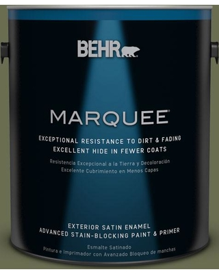 BEHR MARQUEE 1 gal. #S390-1 Sounds of Nature Satin Enamel Exterior Paint and Primer in One