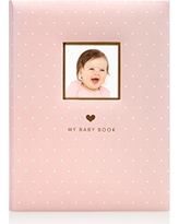Little Blossoms by Pearhead Little Blossoms Sweet Welcome Keepsake Baby Memory Book, Pink