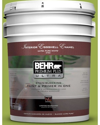 BEHR Premium Plus Ultra 5 gal. #PPU10-05 Intoxication Eggshell Enamel Interior Paint and Primer in One