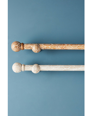 Twig-Etched Curtain Rod Set