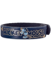 Mickey Mouse Icon Leather Bracelet Personalizable Official shopDisney
