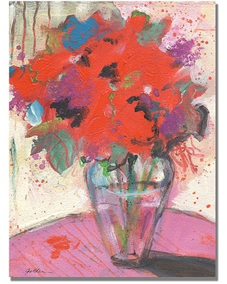"Trademark Art ""Scarlet Bouquet"" Canvas Art by Shelia Golden"