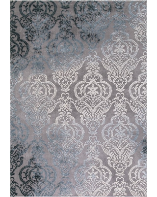 Concord Global Trading Thema Lancing Soft Gray 7 ft. x 9 ft. Area Rug